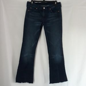 7 For All Mankind bootcut raw edge jeans